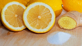 Lemons, Sugar & Ginger Stock Images