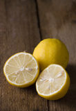 Lemons on the table Royalty Free Stock Photos