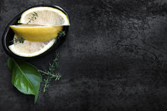 Lemons and Thyme Royalty Free Stock Image
