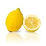lemons with vector polygonal design Royalty Free Stock Photos
