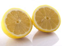 Lemons on white. Separated on white Royalty Free Stock Photography