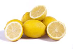 Lemons on white Royalty Free Stock Image