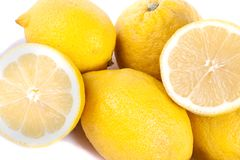 Lemons on white Royalty Free Stock Photos