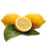 Lemons and white Royalty Free Stock Photo