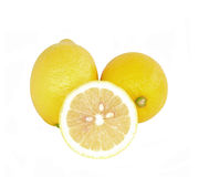 Lemons with white backgroun Royalty Free Stock Images