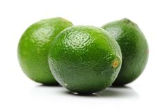 Lemons. A white background Royalty Free Stock Photos