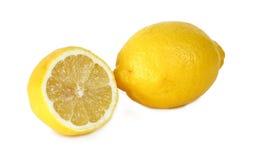 Lemons on white background Royalty Free Stock Images
