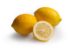 Lemons on white Stock Photos