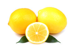 Lemons on white Stock Image