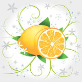 Lemons whole and slices Royalty Free Stock Photos