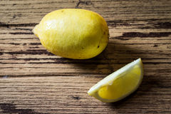 Lemons on wooden backgound Royalty Free Stock Photography