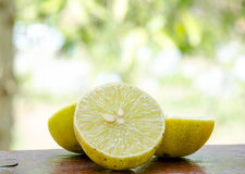 Lemons. On a wooden board. Royalty Free Stock Photos
