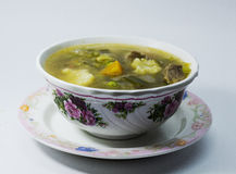 Lemony Beef Hot and Sour Soup Stock Image