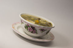 Lemony Beef Hot and Sour Soup Stock Images