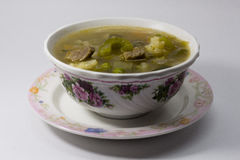 Lemony Beef Hot and Sour Soup Stock Photo