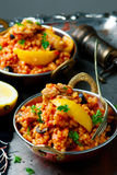 Lemony chicken stew giant couscous. Royalty Free Stock Photos