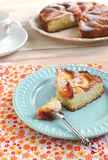 Lemony peach cake Stock Images