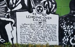 LeMoyne-Owen Universiteitsmuurschildering, Memphis, TN royalty-vrije stock afbeeldingen