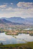 Lempa flodbehållare i El Salvador Arkivfoton