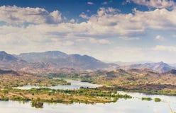 Lempa-Flussreservoir in El Salvador Lizenzfreies Stockfoto