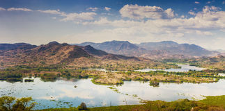 Lempa river reservoir in El Salvador Royalty Free Stock Images