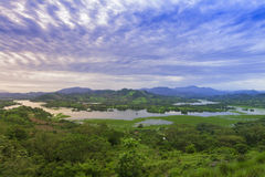 Lempa river reservoir in El Salvador Stock Photos
