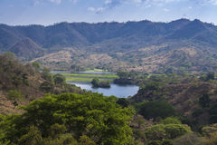 Lempa River reservoir in El Salvador. Panoramic view of the Lempa River reservoir in El Salvador, Central America Royalty Free Stock Photography