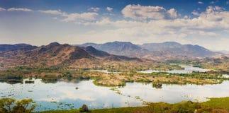 Lempa Rzeczny rezerwuar w Salwador Obrazy Royalty Free