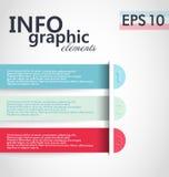 Lemplate degli elementi di Infographic Fotografia Stock
