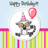 Lemur with balloon Royalty Free Stock Images