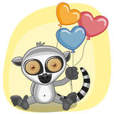 Lemur with balloons Royalty Free Stock Photography