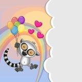 Lemur with balloons Stock Photos