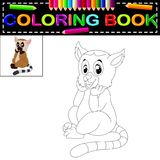 Lemur coloring book. Illustration of lemur coloring book royalty free illustration