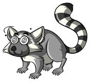 Lemur with dizzy eyes Royalty Free Stock Images