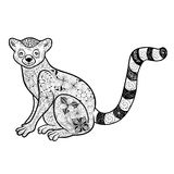 Lemur doodle Stock Photo