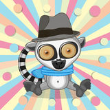Lemur with hat Royalty Free Stock Images