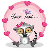 Lemur with hearts Stock Photos