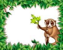 Lemur Na gałąź karcie royalty ilustracja