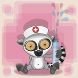 Lemur nurse Stock Photography