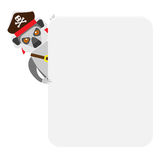 Lemur pirate banner Stock Photography