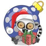 Lemur in a Santa hat Royalty Free Stock Photos