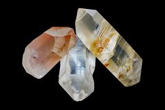 Lemurian Seed Crystal, Crystals. Are said to have originated in a country known as Mu or Lemuria. Recently found in a cave in Brazil. Crystals can also transmit Stock Photo