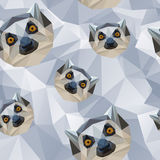 Lemurs Low Poly Style Stock Images
