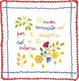 Lenço dos Namorados Valentine´s Embroidery Scarf Royalty Free Stock Images