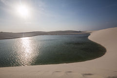 ³ Lençà национальный парк Maranhenses - Maranhão - Бразилия Стоковое Фото