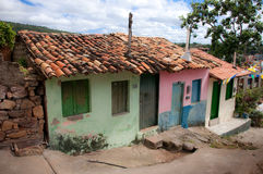 Lençóis. Typical historic houses in the touristic city of Lençóis, at Chapada Diamantina (Bahia, Brazil Stock Photo