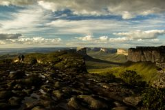 View on the Pai Inácio hill, in Chapada Diamantina. Lençóis/Bahia/Brasil-08/29/2018: The Pai Inácio hill is one of the most famous tourist spots of royalty free stock photo