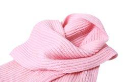 Lenço cor-de-rosa de lã. Imagem de Stock