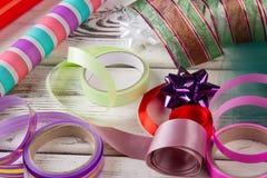 Lenço de papel e fitas Fotos de Stock Royalty Free
