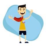 Lenço e crachá vestindo do aficionado desportivo Fotografia de Stock Royalty Free